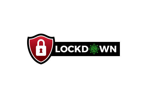 Download Free Lockdown Sign Vector Graphic By Hartgraphic Creative Fabrica for Cricut Explore, Silhouette and other cutting machines.