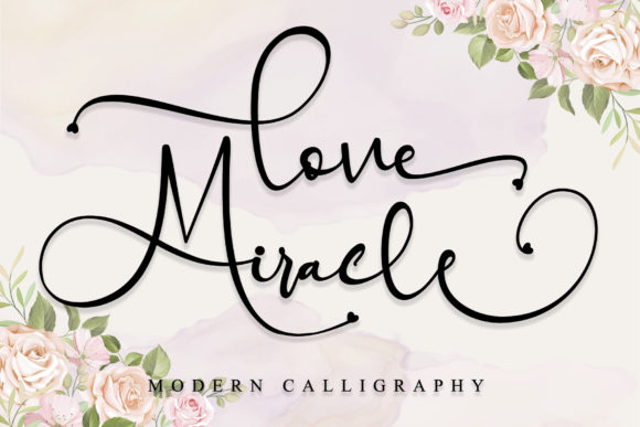 Print on Demand: Love Miracle Script & Handwritten Font By thomasaradea