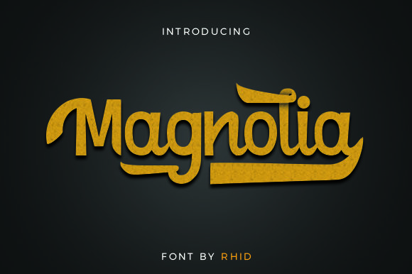 Print on Demand: Magnolia Script & Handwritten Font By RHIDTYPE