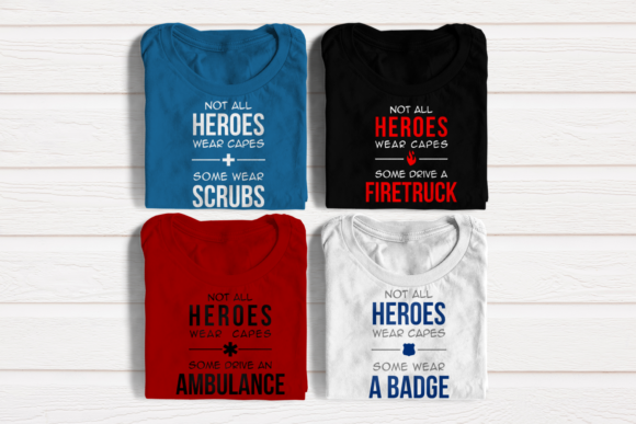 Medical and First Responder Heroes Set Graphic Crafts By DesignedByGeeks