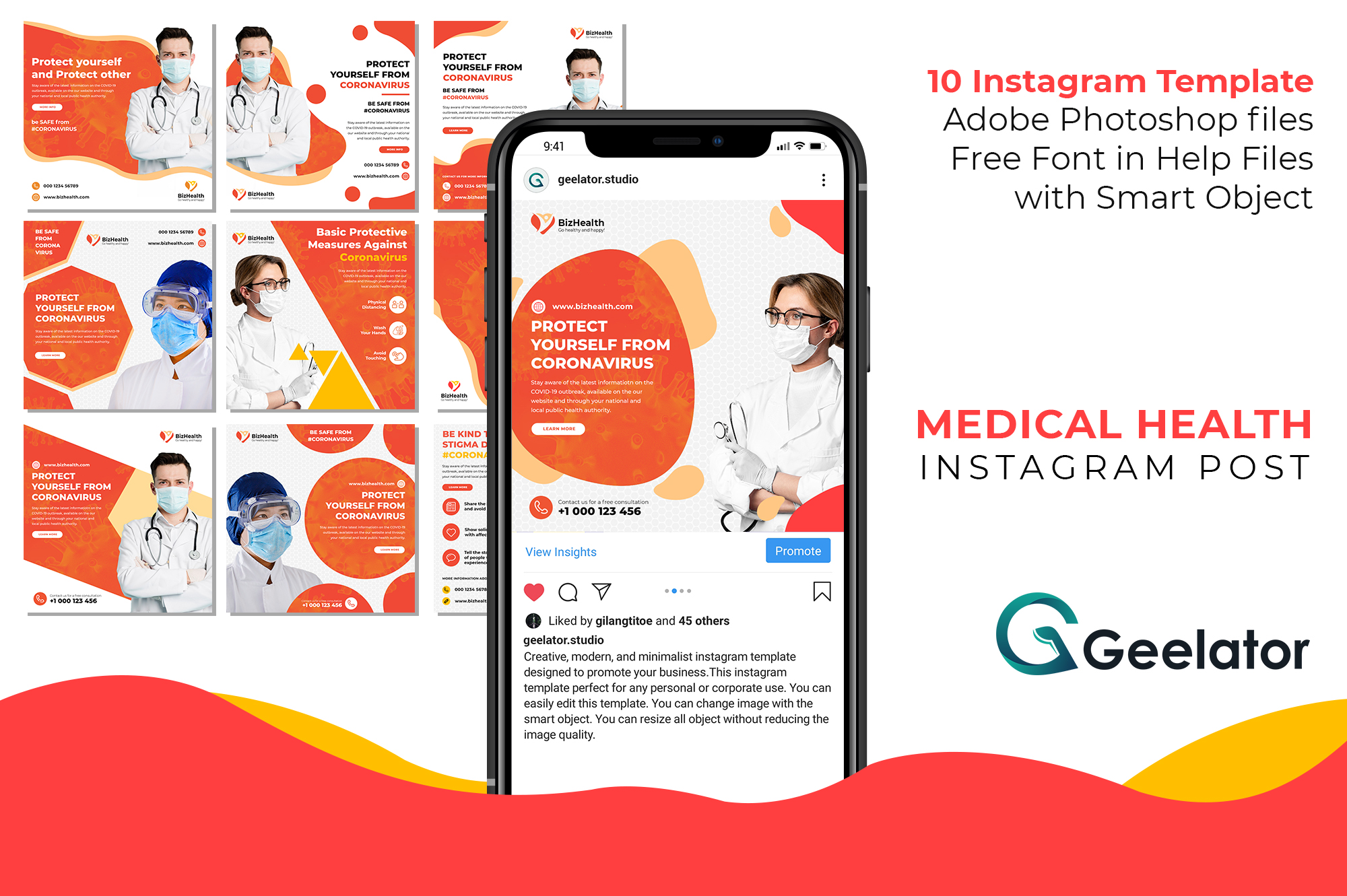 Download Free Medical Health Instagram Post Graphic By Geelator Creative Fabrica for Cricut Explore, Silhouette and other cutting machines.