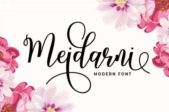 Print on Demand: Meidarni Script & Handwritten Font By Aqeela Studio
