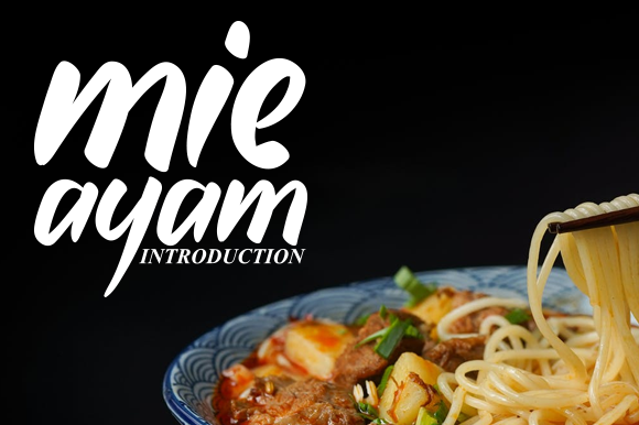 Print on Demand: Mie Ayam Display Font By andikastudio