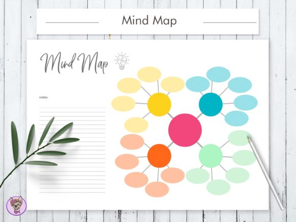Download Free Mind Map Printable Graphic By Bekker Ev2 Creative Fabrica for Cricut Explore, Silhouette and other cutting machines.