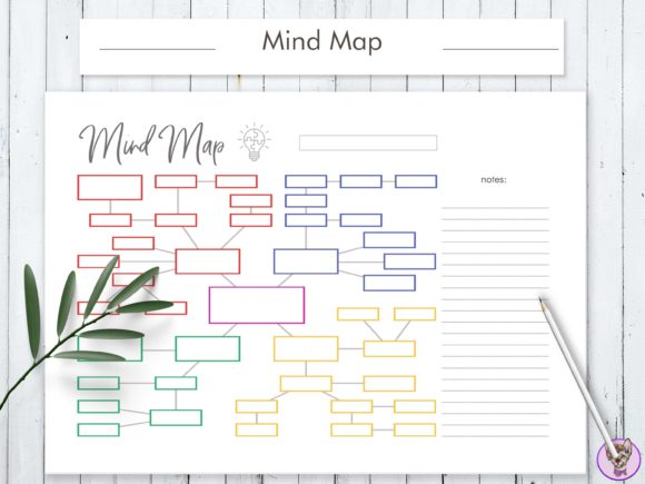Mind Map Printable Graphic Print Templates By HelArtShop