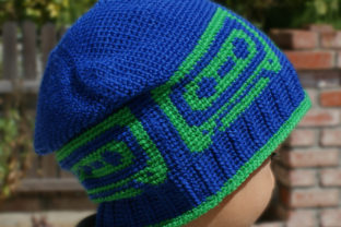 Mix Tape Beanie Crochet Pattern Graphic Crochet Patterns By Knit and Crochet Ever After 1
