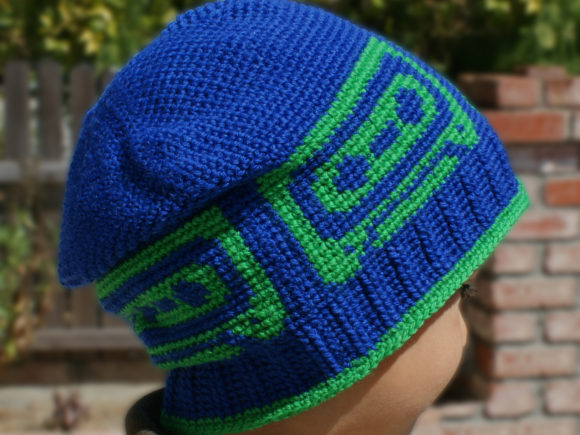 Mix Tape Beanie Crochet Pattern Graphic Crochet Patterns By Knit and Crochet Ever After