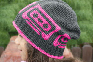 Mix Tape Beanie Crochet Pattern Graphic Crochet Patterns By Knit and Crochet Ever After 2