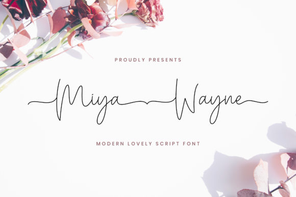 Download Free Miya Wayne Font By Stringlabs Creative Fabrica for Cricut Explore, Silhouette and other cutting machines.