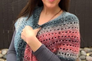 Moonstone Shawl Knit Pattern Graphic Knitting Patterns By Knit and Crochet Ever After