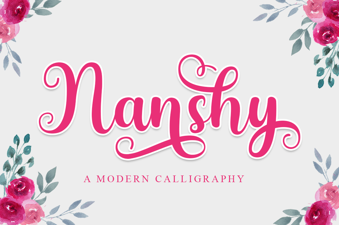 Download Free Nanshy Font By Suby Store Creative Fabrica for Cricut Explore, Silhouette and other cutting machines.