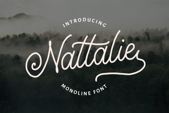 Download Free Nattalie Font By Analogous Creative Fabrica for Cricut Explore, Silhouette and other cutting machines.