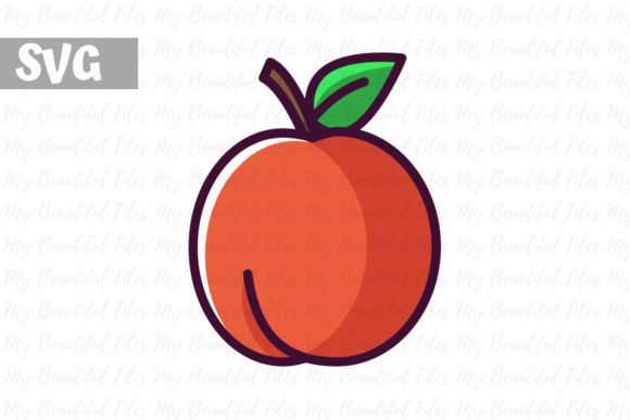 Download Free Nectarine Illustration Icon Svg Graphic By Mybeautifulfiles for Cricut Explore, Silhouette and other cutting machines.