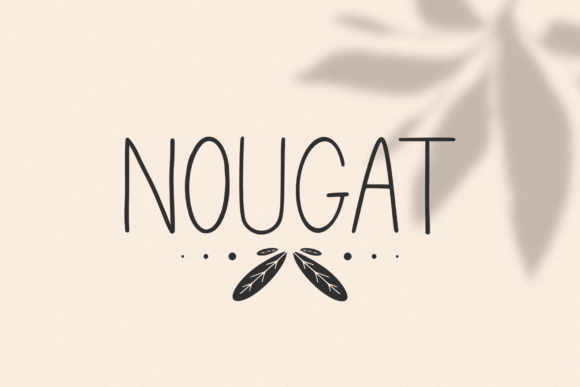 Print on Demand: Nougat Sans Serif Font By Pen Culture