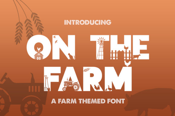 Print on Demand: On the Farm Display Schriftarten von Salt & Pepper Designs