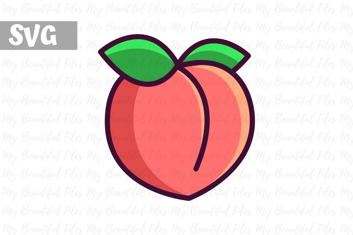 Download Free Peach Illustration Icon Svg Graphic By Mybeautifulfiles for Cricut Explore, Silhouette and other cutting machines.