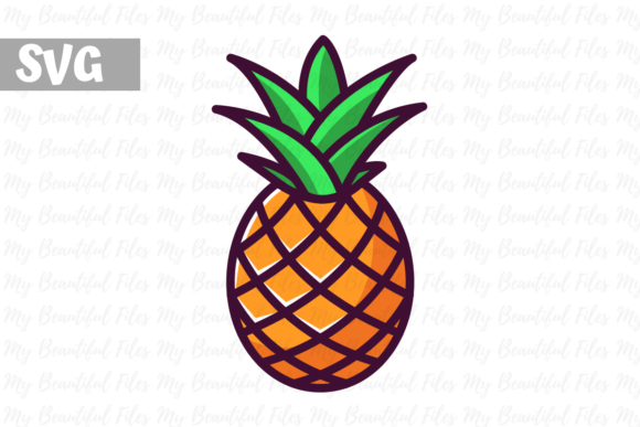 Download Free Pineapple Illustration Icon Svg Graphic By Mybeautifulfiles for Cricut Explore, Silhouette and other cutting machines.