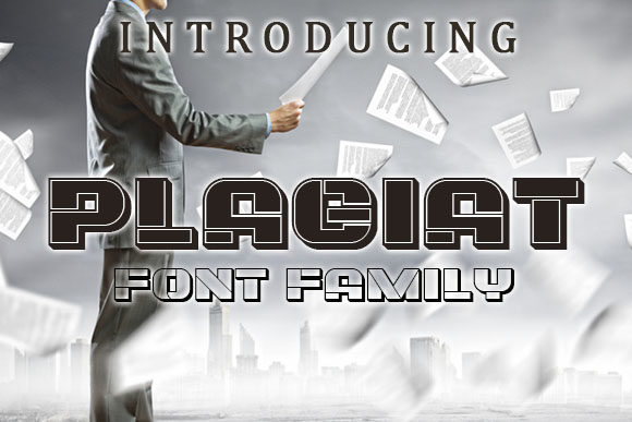 Print on Demand: Plagiat Display Font By vladimirnikolic