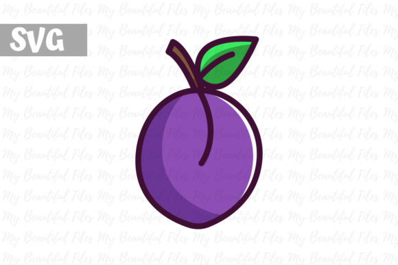 Download Free Plum Illustration Icon Svg Graphic By Mybeautifulfiles for Cricut Explore, Silhouette and other cutting machines.