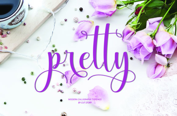 Print on Demand: Pretty Script & Handwritten Font By Cut Story