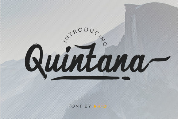 Print on Demand: Quintana Script & Handwritten Font By RHIDTYPE