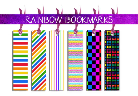 Download Free Rainbow Bookmarks Graphic By Capeairforce Creative Fabrica for Cricut Explore, Silhouette and other cutting machines.