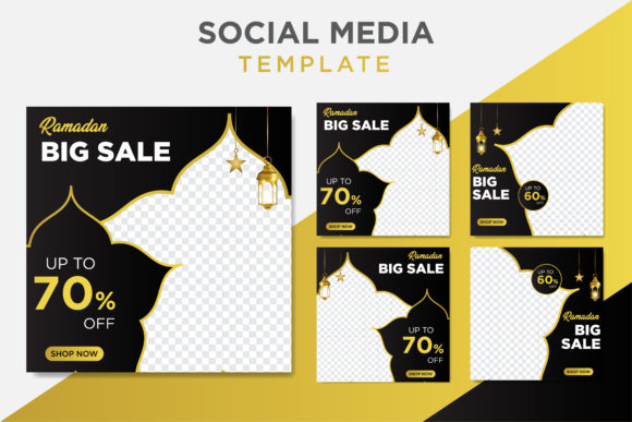 Download Free Ramadan Sale Social Media Post Template Graphic By for Cricut Explore, Silhouette and other cutting machines.