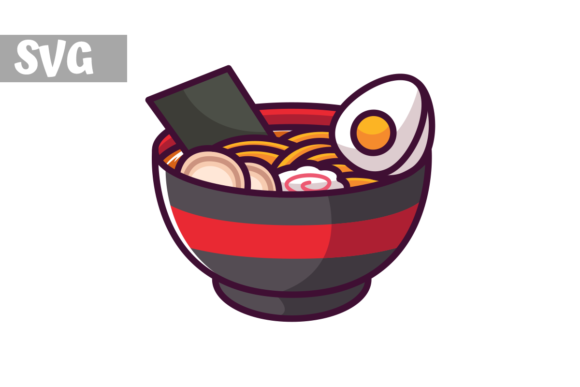 Download Free Ramen Icon Graphic By Mybeautifulfiles Creative Fabrica for Cricut Explore, Silhouette and other cutting machines.