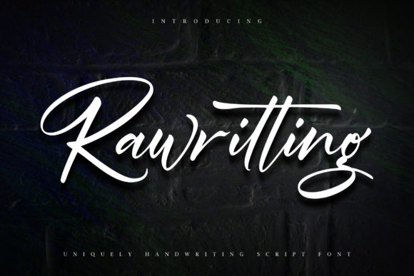 Print on Demand: Rawriting Script & Handwritten Font By Vunira