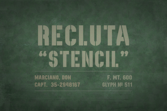 Print on Demand: Recluta Display Font By DonMarciano