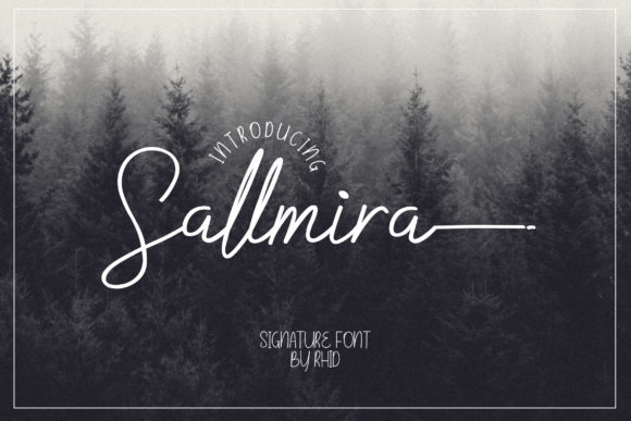 Print on Demand: Sallmira Script & Handwritten Font By RHIDTYPE