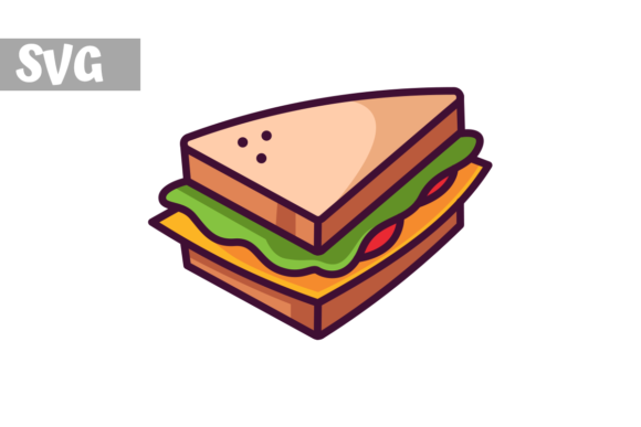 Download Free Sandwich Icon Graphic By Mybeautifulfiles Creative Fabrica for Cricut Explore, Silhouette and other cutting machines.