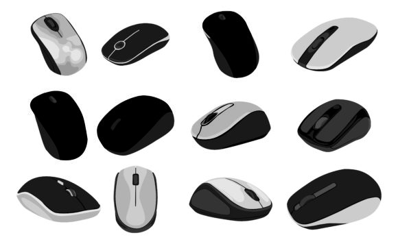 Download Free Set Of Computer Mouse Vector Bundle Graphic By Arief Sapta Adjie for Cricut Explore, Silhouette and other cutting machines.