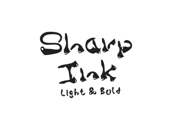 Print on Demand: Sharp Ink Display Font By GraphicsBam Fonts