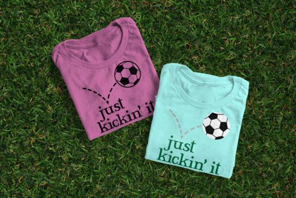 Soccer Ball Just Kickin It Graphic Crafts By DesignedByGeeks