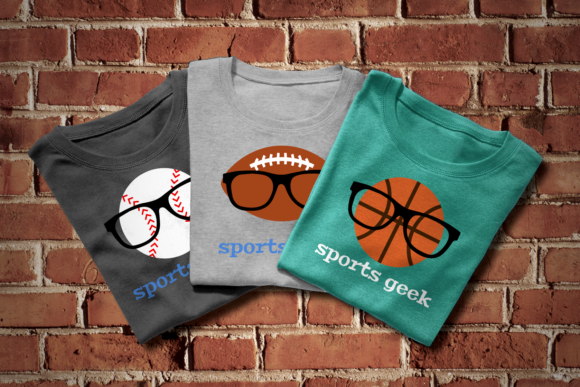 Sports Geek Trio Graphic Crafts By DesignedByGeeks
