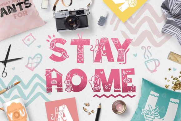 Print on Demand: Stay Home Display Font By Latin Vibes - Image 1
