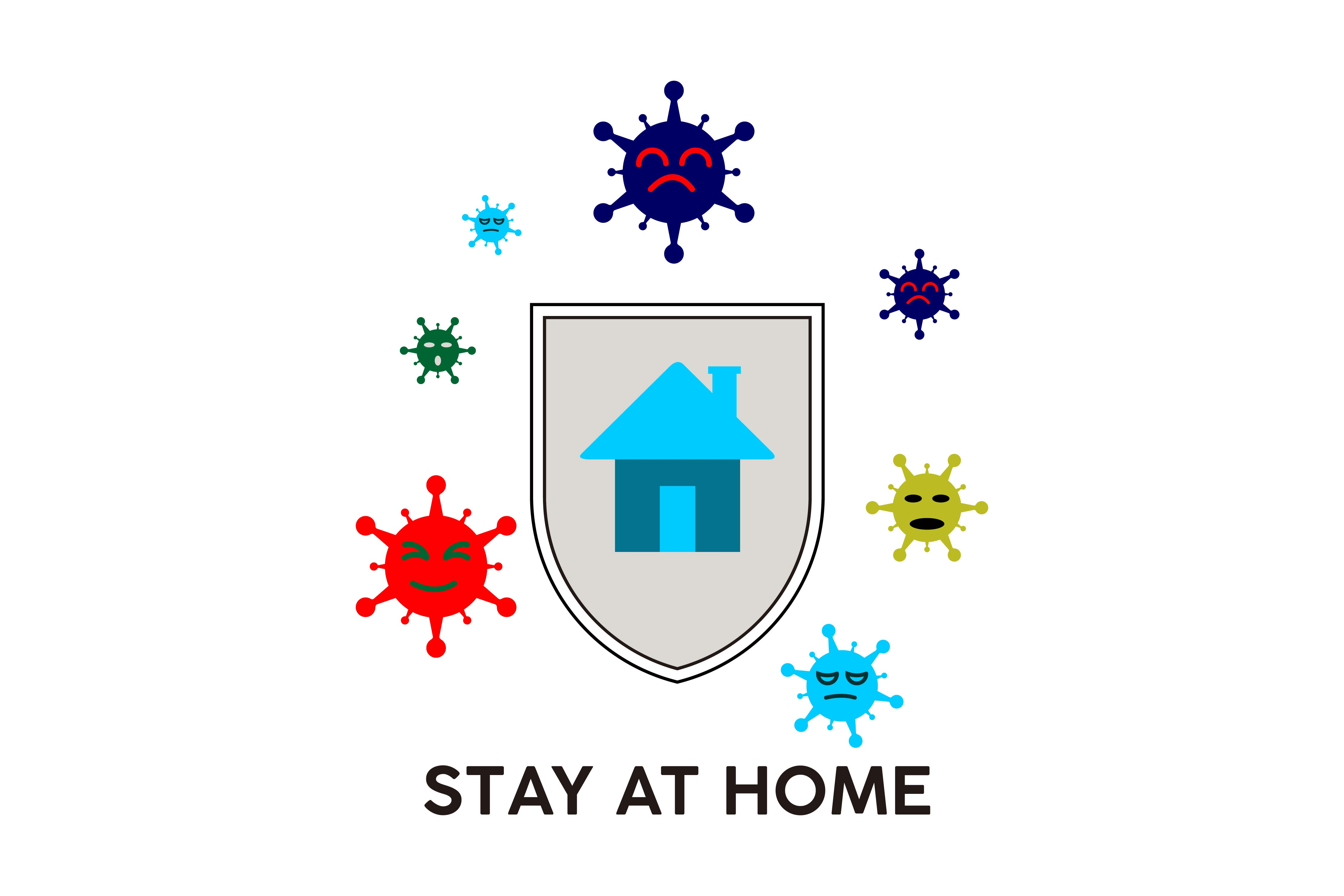 Download Free Stay At Home Grafico Por Artpray Creative Fabrica for Cricut Explore, Silhouette and other cutting machines.