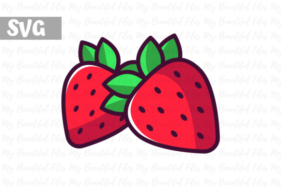 Print on Demand: Strawberry Illustration Icon Graphic Icons By MyBeautifulFiles