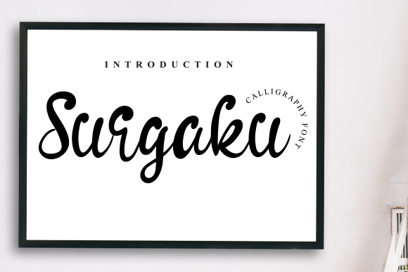 Print on Demand: Surgaku Display Font By andikastudio