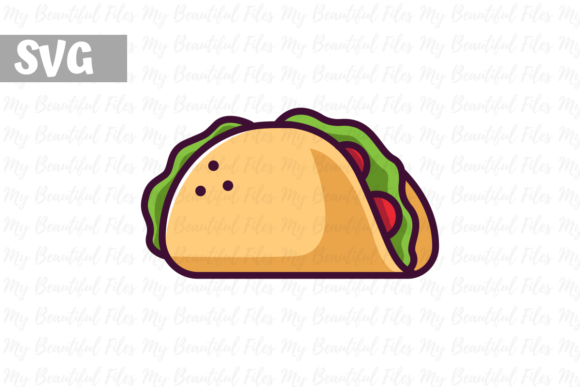 Download Free Taco Icon Svg Graphic By Mybeautifulfiles Creative Fabrica for Cricut Explore, Silhouette and other cutting machines.