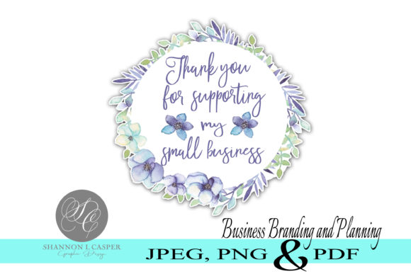 Print on Demand: Thank You Print and Cut Sticker Labels Graphic Illustrations By Shannon Casper