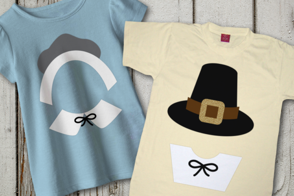 Thanksgiving Pilgrim Hats and Collars Graphic Crafts By DesignedByGeeks