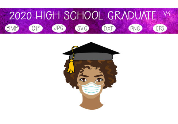 Download Free The 2020 Graduate V 4 Graphic By Capeairforce Creative Fabrica for Cricut Explore, Silhouette and other cutting machines.