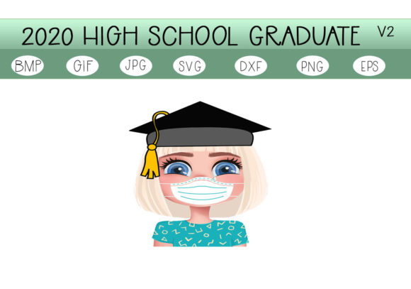 Download Free The 2020 Graduate V2 Graphic By Capeairforce Creative Fabrica for Cricut Explore, Silhouette and other cutting machines.