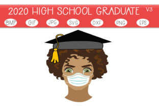 Download Free The 2020 Graduate V3 Graphic By Capeairforce Creative Fabrica for Cricut Explore, Silhouette and other cutting machines.