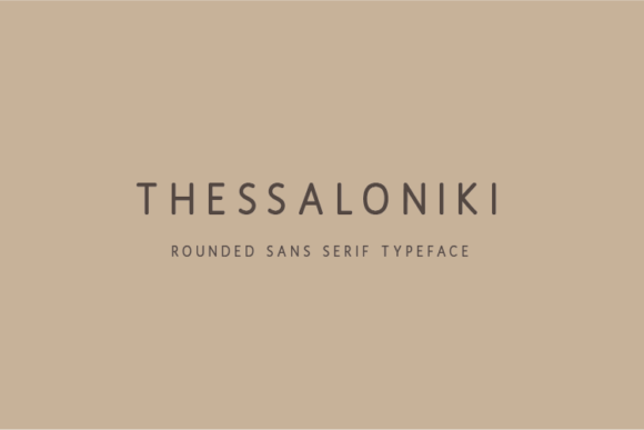 Print on Demand: Thessaloniki Sans Serif Font By Huntype