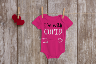 Valentine's Day I'm with Cupid Graphic Crafts By DesignedByGeeks