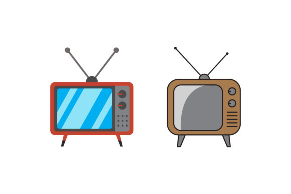 Vintage Tv Graphic Icons By msholicha9