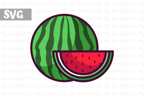 Download Free Watermelon Illustration Icon Svg Graphic By Mybeautifulfiles for Cricut Explore, Silhouette and other cutting machines.